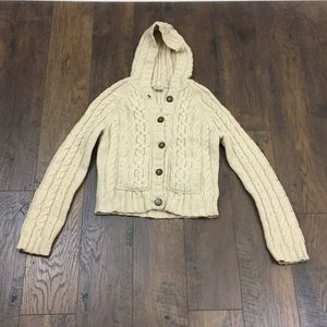 Abercrombie Vintage wool cable knit cardigan